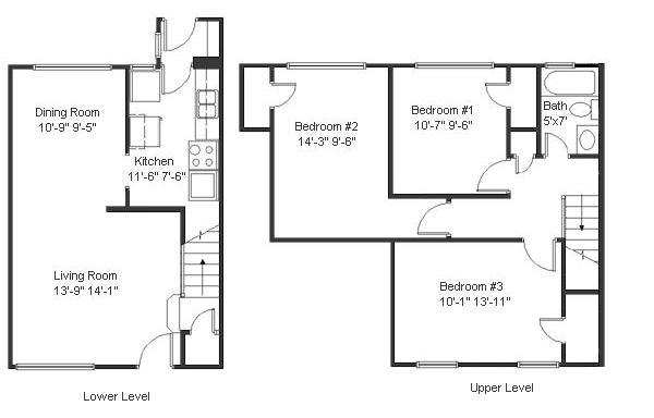 Floorplans 3 bedrooms Vulcan Park Condos